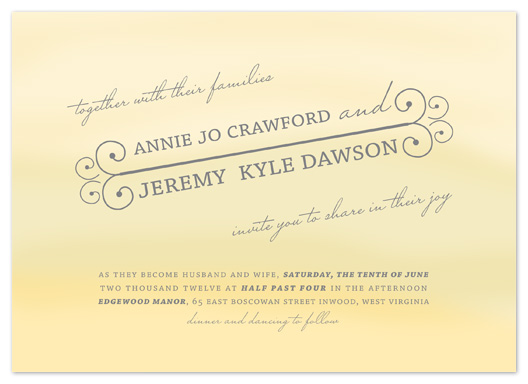 wedding invitations - Sunny Delight by Bethany Anderson