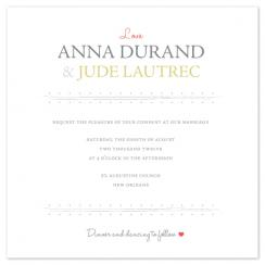 Love script Wedding Invitations