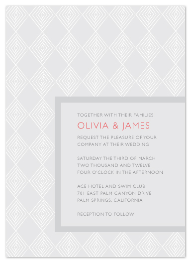 wedding invitations - diamonds in line by Waldo Press
