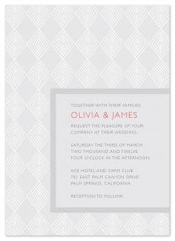 diamonds in line Wedding Invitations