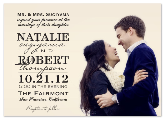 wedding invitations - Fun with type by Janelle Otsuki
