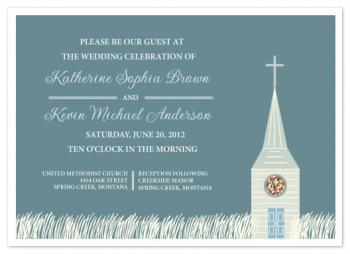 Church Stained Glass Wedding Invitations