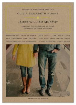 vintage kraft Wedding Invitations