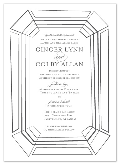 wedding invitations - Emeraldesque by Bleu Collar Paperie