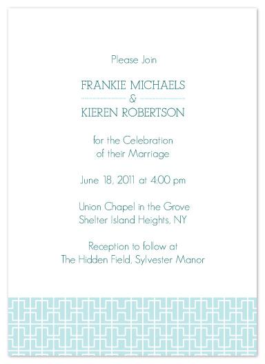 wedding invitations - Chinoserie Blue by Karen Robert