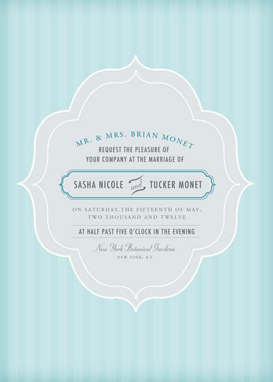 wedding invitations - Something Blue by Kelly Caruk