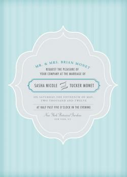 Something Blue Wedding Invitations