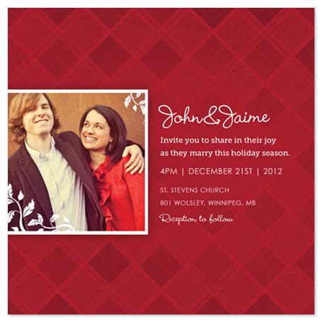 wedding invitations - Marry Christmas by Kelly Caruk