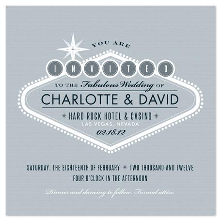 wedding invitations - Platinum Vegas by Carolyn MacLaren