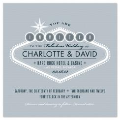 Platinum Vegas Wedding Invitations