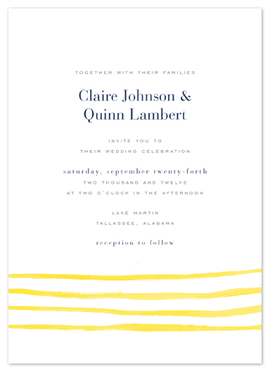 wedding invitations - Anchored