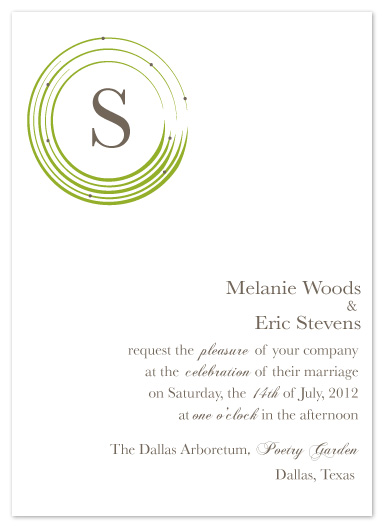 wedding invitations - merry go round by a la amore