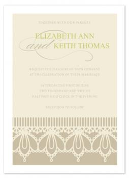 Precious Moments in Lace Wedding Invitations