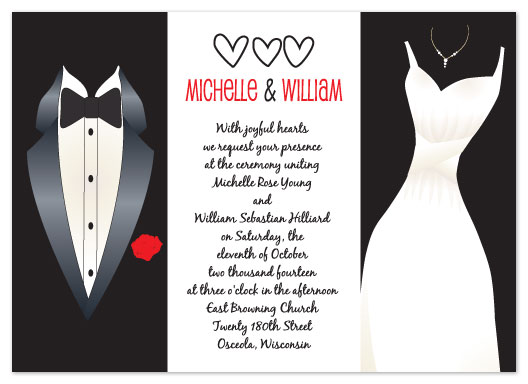wedding invitations - Tux & Gown by Connie Daly