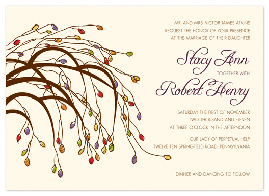 wedding invitations - Weeping Willow by Bridget Collins