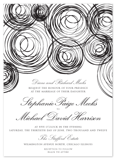 wedding invitations - Perfectly Imperfect Circle by Chelsea Marsh