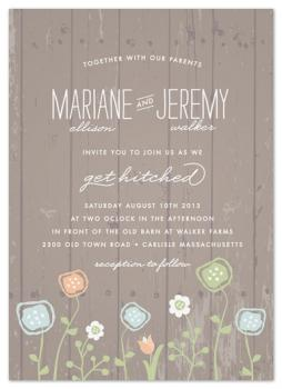 Rustic Barnwood Wedding Invitations