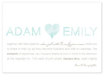 Elegance in Watercolor Wedding Invitations