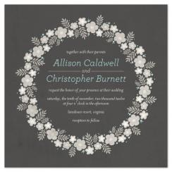 Floral Ring Wedding Invitations
