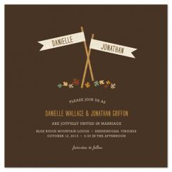 Fall Flags Wedding Invitations