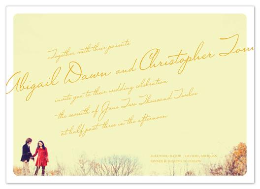 wedding invitations - photo + script by Bethany Anderson