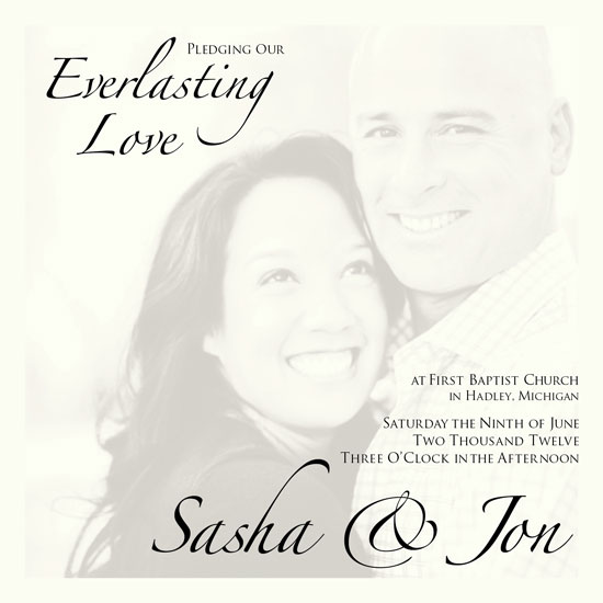 wedding invitations - Everlasting Love by Debra Borrmann