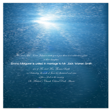 wedding invitations - Ocean's Delight by Jessica Termini