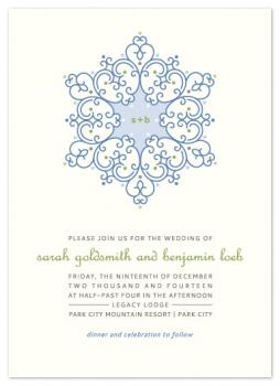 Winter Wedding Wedding Invitations