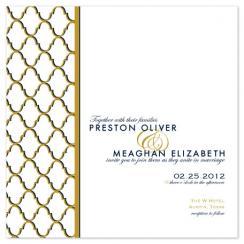 Midnight Is Golden Wedding Invitations
