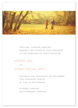 Modern Landscape Wedding Invitations