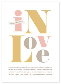 Found Type Wedding Invitations