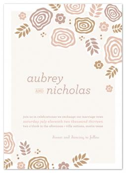 Abstract Bouquet Wedding Invitations