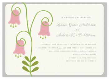 Linnea Flowers Wedding Invitations