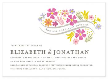 Floral Vows Wedding Invitations