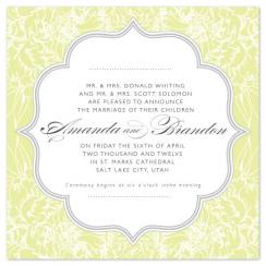 Floral Lace Wedding Invitations