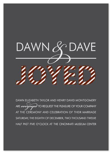wedding invitations - Overjoyed by Kim Dietrich Elam