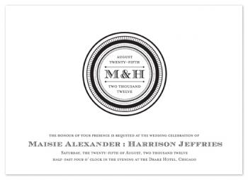 sophisticated seal Wedding Invitations