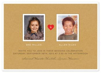 textbook love story Wedding Invitations