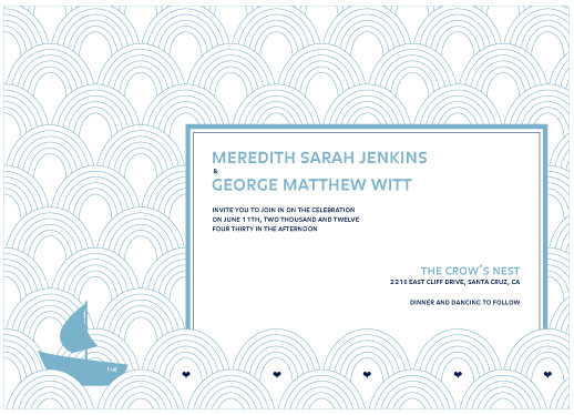 wedding invitations - Sailing away by Corinne Wong