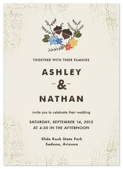 Woodsy Pair Wedding Invitations