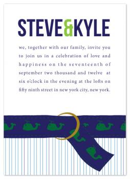 Preppy Love Wedding Invitations