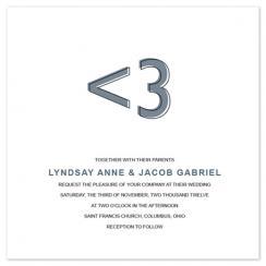 <3 Wedding Invitations