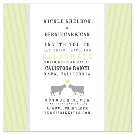 wedding invitations - California Ranch Wedding Invite by Potluck Design