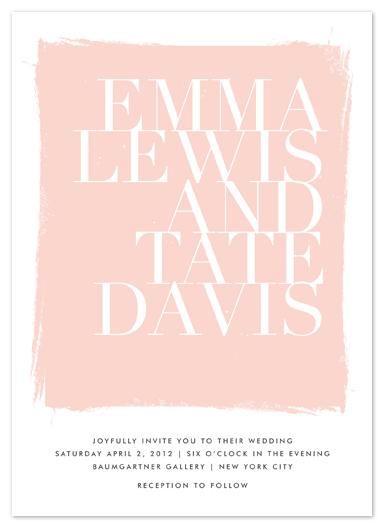 wedding invitations - gallery hopping by annie clark