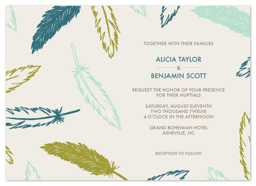 wedding invitations - Ruffled Feathers by Amber Barkley