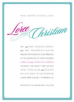Two Hearts Wedding Invitations