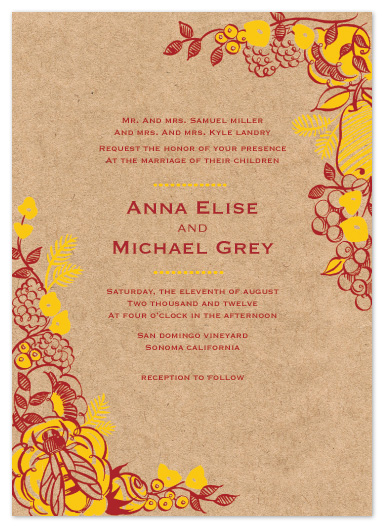 wedding invitations - Rustic Harvest by Rebecca Turner