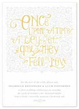 Once Upon... Wedding Invitations