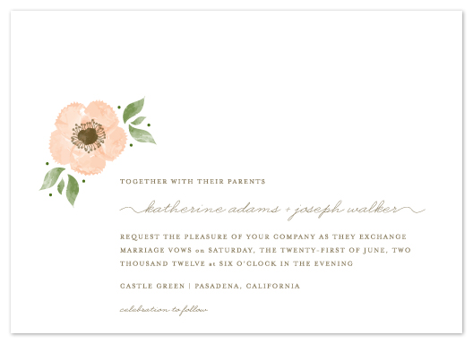 wedding invitations - Painted Flower by Lehan Veenker