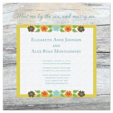 wedding invitations - Beachwood by Jenn Johnson